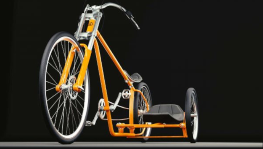 3D Visualisierung Dresden Industrie Beipiel Fahrrad Cruiser fotorealistisch mit Details und Beiwagen andere Variante