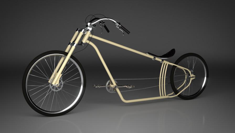 3D Visualisierung Dresden Industrie Beipiel Fahrrad Cruiser fotorealistisch mit Details