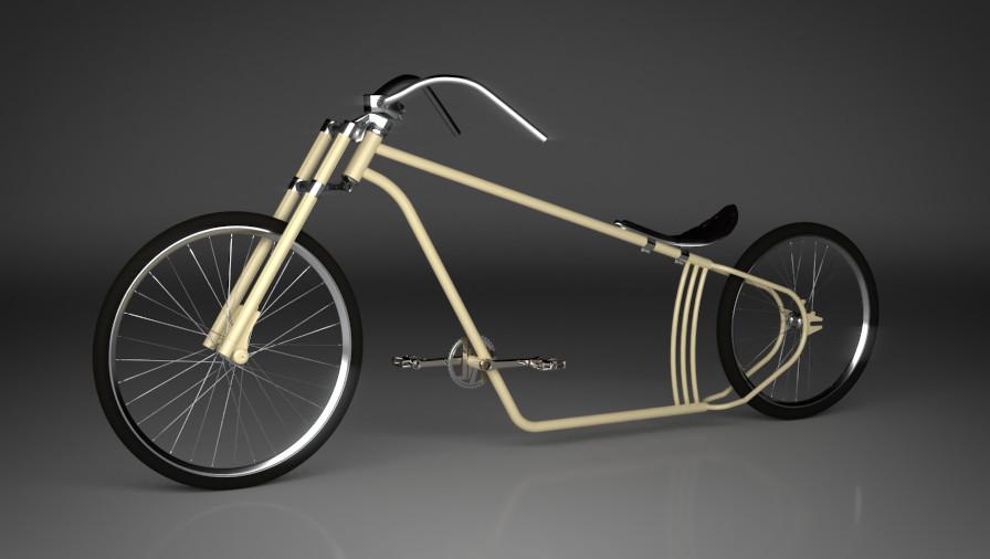 3D Visualisierung Dresden Industrie Beipiel Fahrrad Cruiser fotorealistisch ohne Details